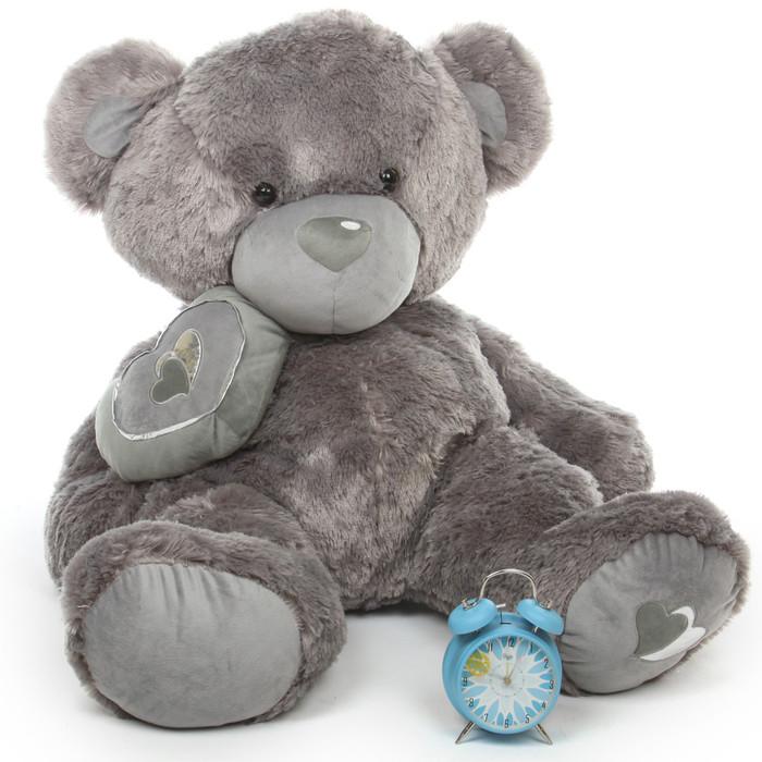 Snuggle Pie Big Love silver teddy bear 42in