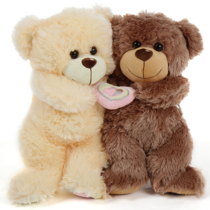 Be Mine Bear Hug Care Package Featuring 18in Tiny Honey