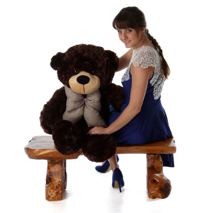 38in Brownie Cuddles Chocolate Brown Teddy Bear