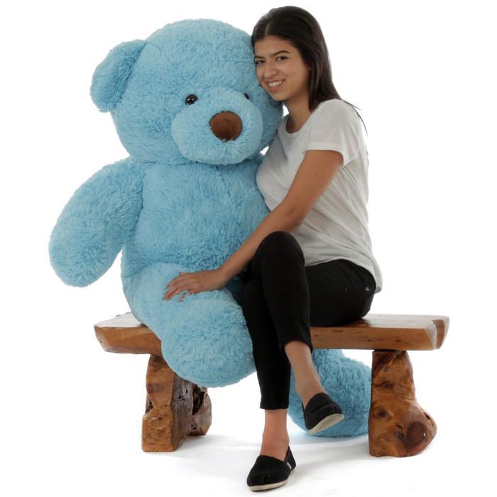 Big Blue Teddy Bear Sammy Chubs 48in