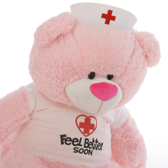 Nurse Lulu Shags 45in Pink Teddy Bear (Close Up)