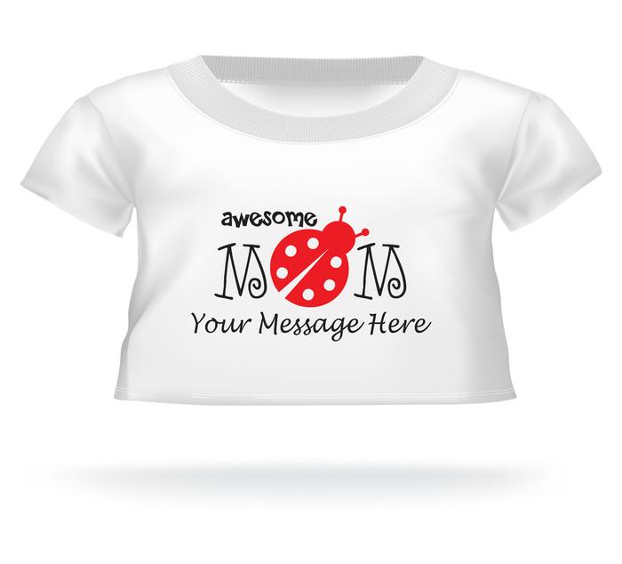 Personalized Awesome Mom Lady bug Giant Teddy Bear shirt