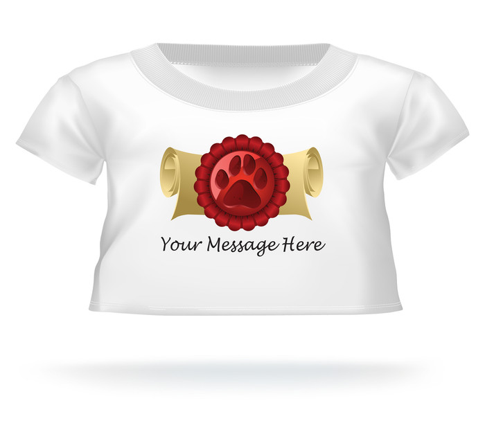 Personalized Giant Teddy bear shirt Bear Paw Print Diploma