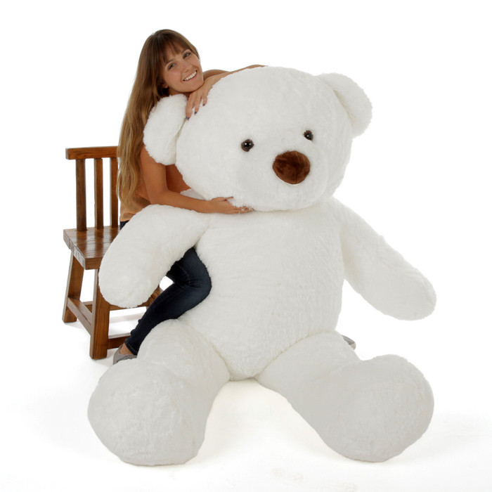 6ft White Giant Teddy White Sprinkle Chubs (Model and Props are NOT included)