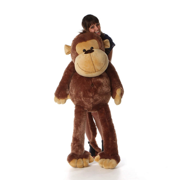 5ft Life Size Giant Stuffed cute Monkey Big Daddy from Giant Teddy brand
