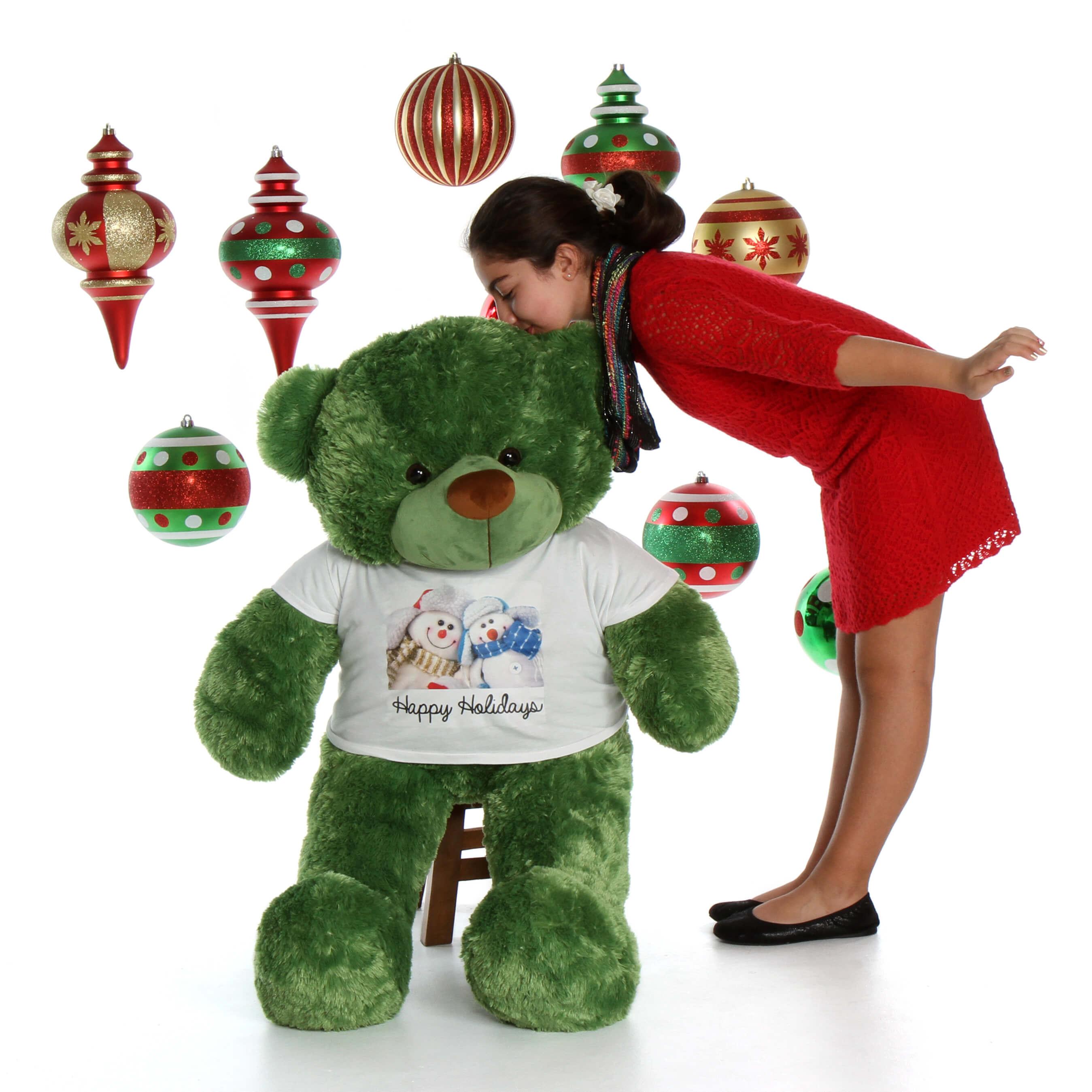 48in-lucky-cuddles-green-giant-teddy-bear-snowman-shirt-kisses1.jpg