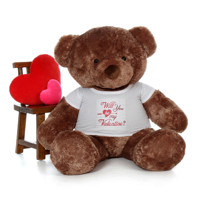 60in Mocha Big Chubs in Will You Be My Valentine Shirt