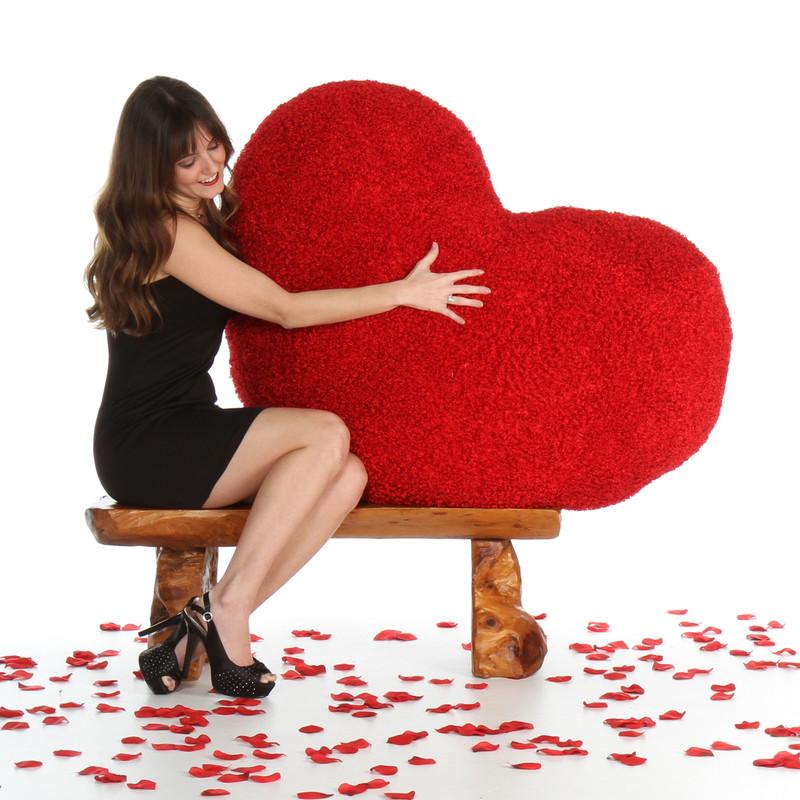 44in Measured Diagonally Heart Cushion