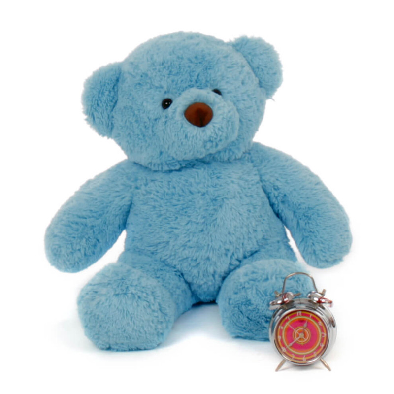Adorable 30in sky blue teddy bears are rare Sammy Chubs