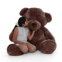 5ft best huggable brown teddy bear sweetheart  Big Chubs a plush teddy bear copy
