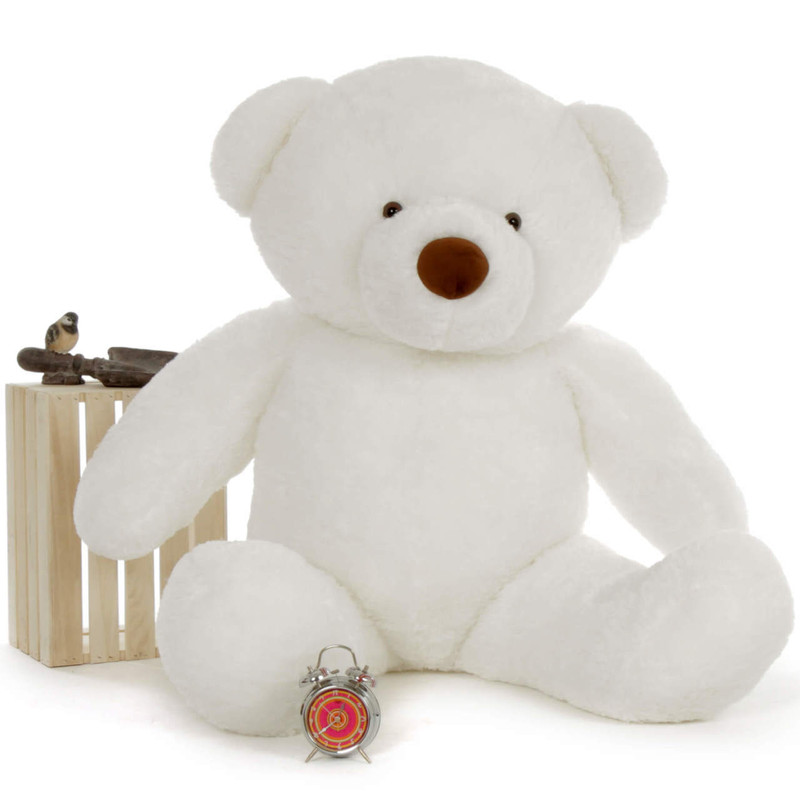 5ft Sprinkle Chubs Giant White Teddy Bear (Clock and Props are NOT included)