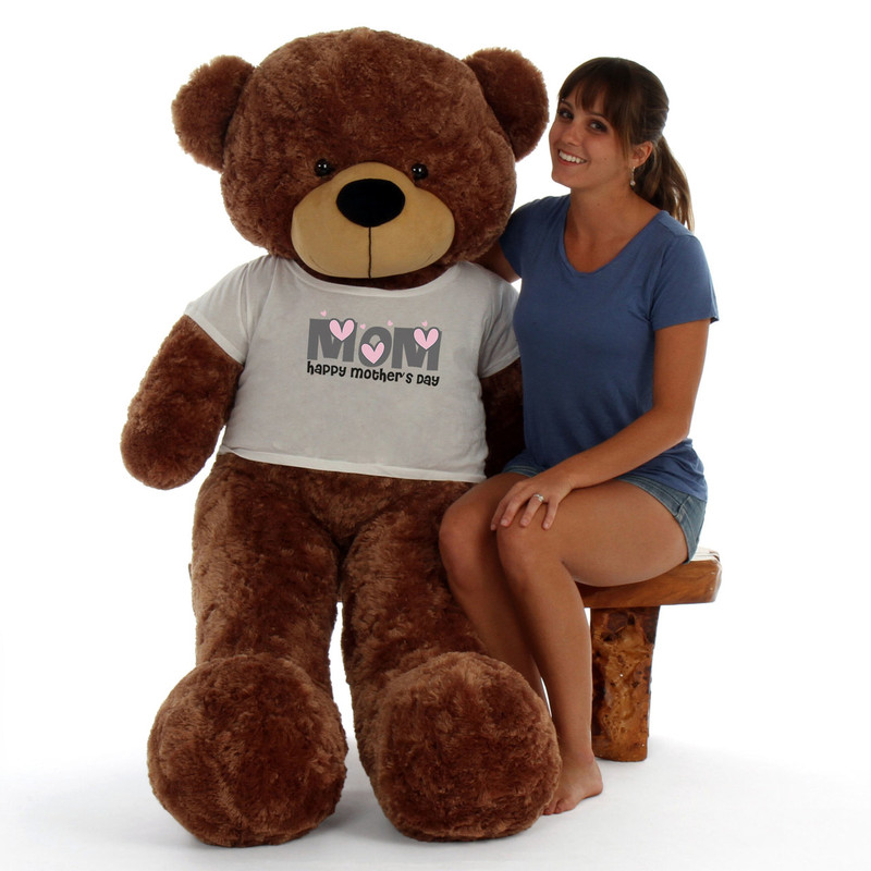 60in Mocha Sunny Cuddles Happy Mother's Day Mom Teddy Bear