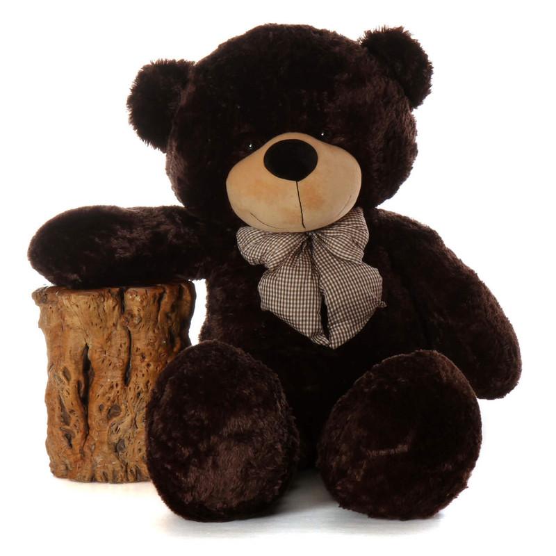 """Brownie Cuddles 60"""" Huge Brown Stuffed Teddy Bear - Giant ..."""