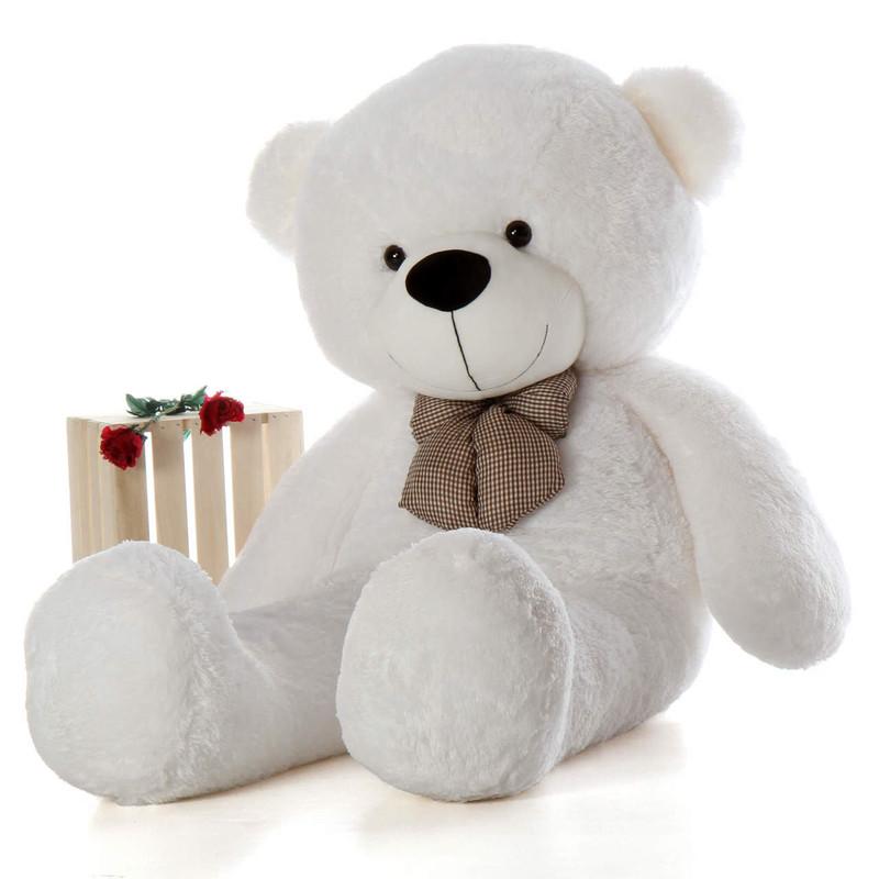 6ft Life Size Teddy Bear Coco Cuddles giant white teddy bear