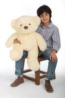 Smiley Chubs vanilla cream teddy bear 30in