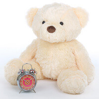 Smiley Chubs vanilla cream teddy bear 30in