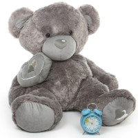 Snuggle Pie Big Love silver teddy bear 42in