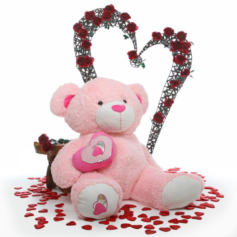 Cutie Pie Big Love pink teddy bear 47in