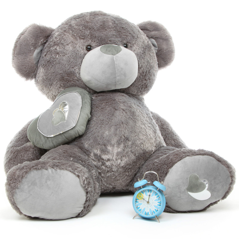 Snuggle Pie Big Love silver teddy bear 47in