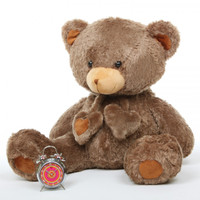 Cheeky Hugs mocha brown teddy bear 36in