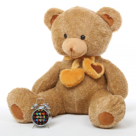 Cupid Hugs amber brown teddy bear 36in
