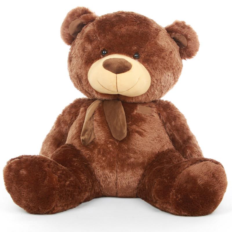 Snoozy Shags chestnut brown teddy bear 45in