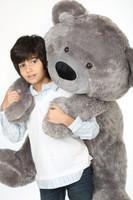 Diamond Shags silver teddy bear 45in