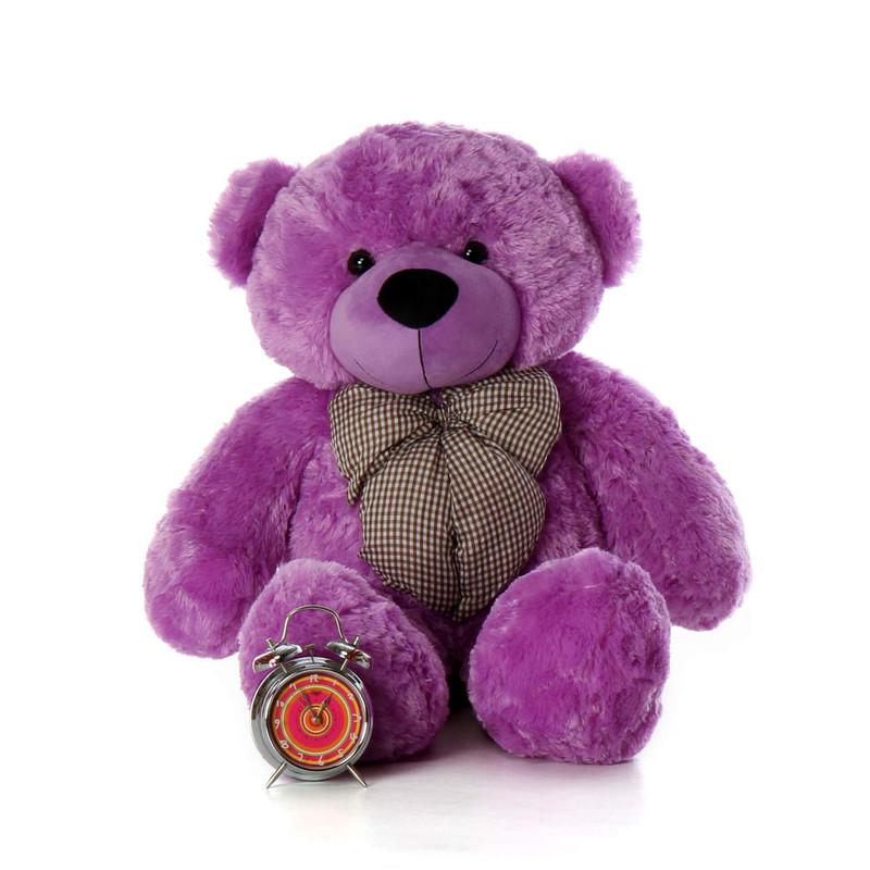 Huge Purple Teddy Bear DeeDee Cuddles 38in