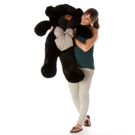 38in Huge Teddy Bear Juju Cuddles soft and huggable black fur