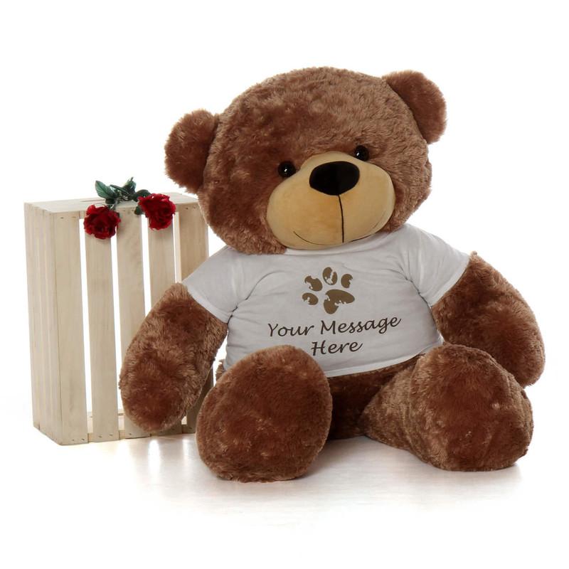 4ft Teddy Bear soft and warm, mocha brown fur