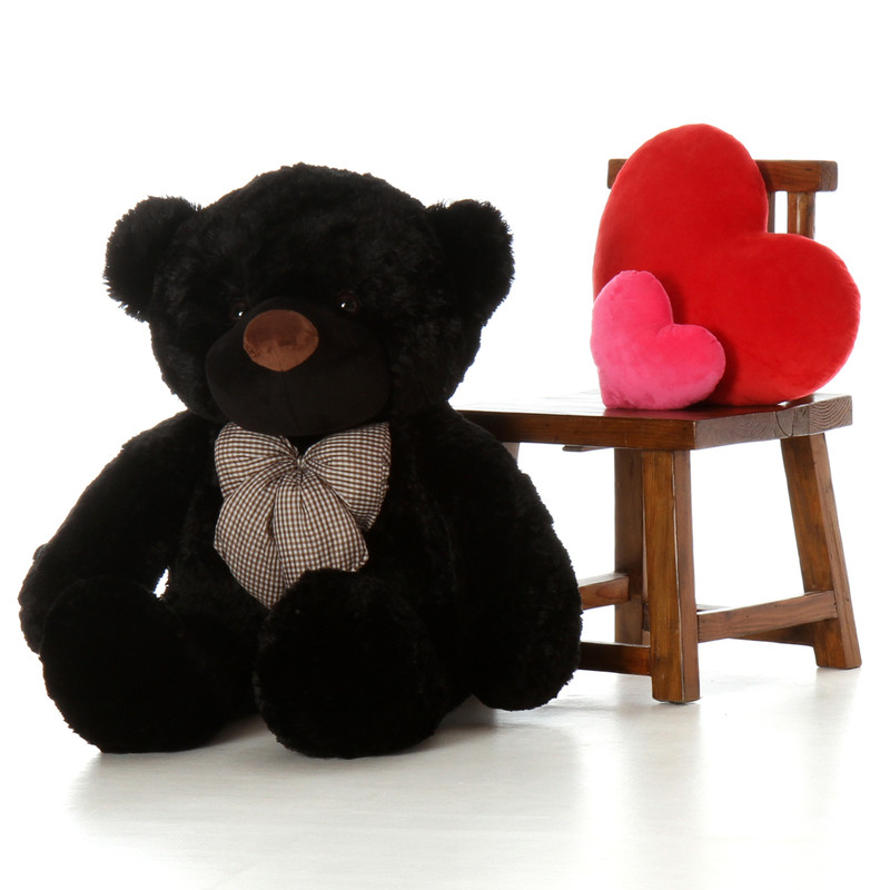48in Juju Cuddles Black Teddy Bear