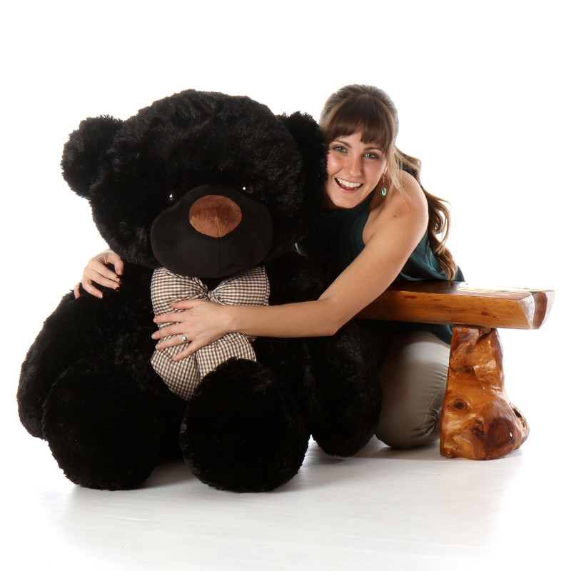 Life Size Black Teddy Bear Juju Cuddles 48in