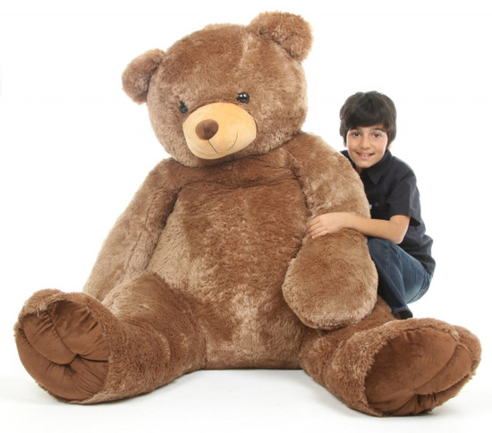 Sweetie Tubs 65 Mocha Brown Life Size Teddy Bear Giant