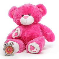 ChaCha Big Love hot pink teddy bear 30in