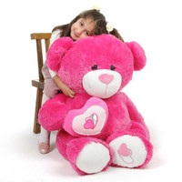 ChaCha Big Love extra large hot pink teddy bear 42in