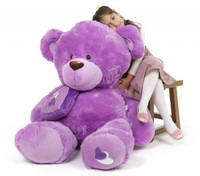 Sewsie Big Love huge lavender teddy bear 47in