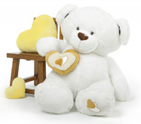 Chomps Big Love white extra large teddy bear 47in