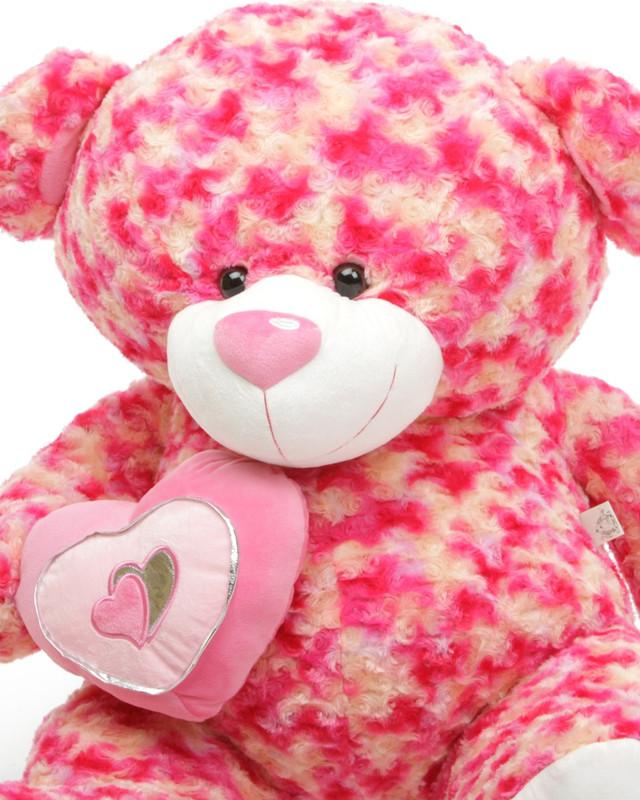 Sassy Big Love pink and cream teddy bear 42in