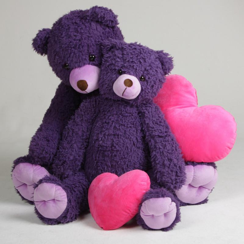 Dark Purple Teddy Bears