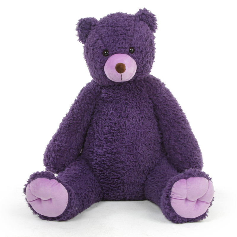 Plush Dark Purple Teddy Bear