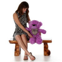 30in Oversized Purple Teddy Bear DeeDee Cuddles Huge and Cuddly