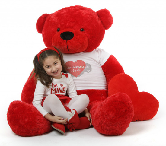 Red Hot Valentine 55in Bitsy Cuddles With Heart T Shirt A