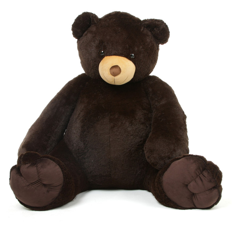baby tubs life size cuddly chocolate brown giant teddy bear 65 inch. Black Bedroom Furniture Sets. Home Design Ideas