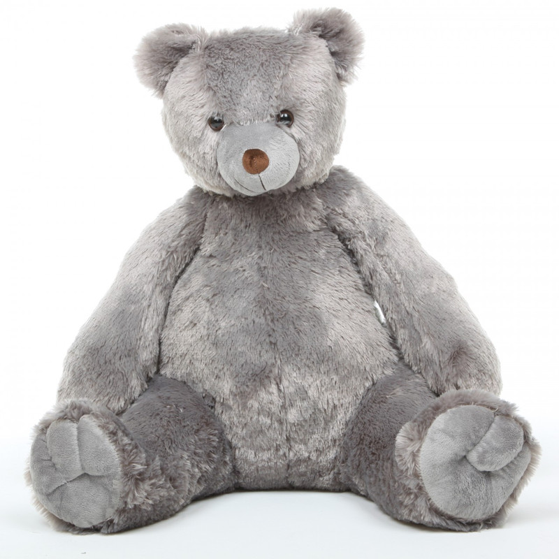 Sugar Tubs Cuddly Grey Big Plush Teddy Bear 32in