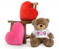 Sunny M Cuddles Mocha Mothers Day Teddy Bear Gift 30in