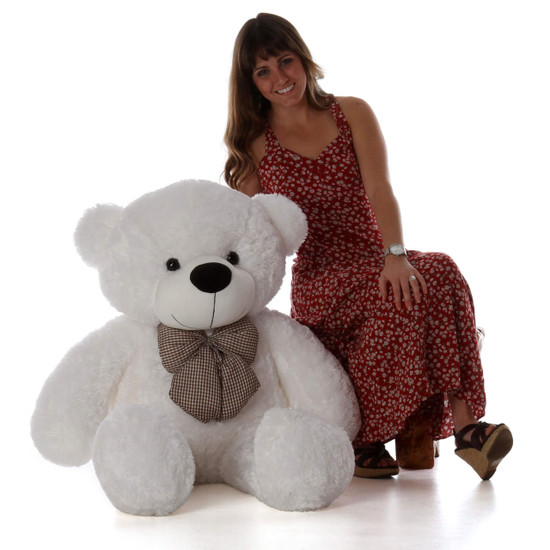 Coco Cuddles 48 Large White Stuffed Teddy Bear Giant