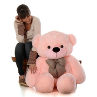 4ft Pink Teddy Bear Gift Lady Cuddles Super cute Huggable