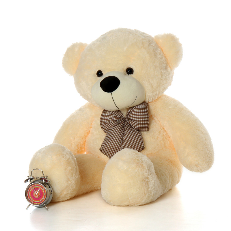 Cozy Cuddles cream teddy bear 46in