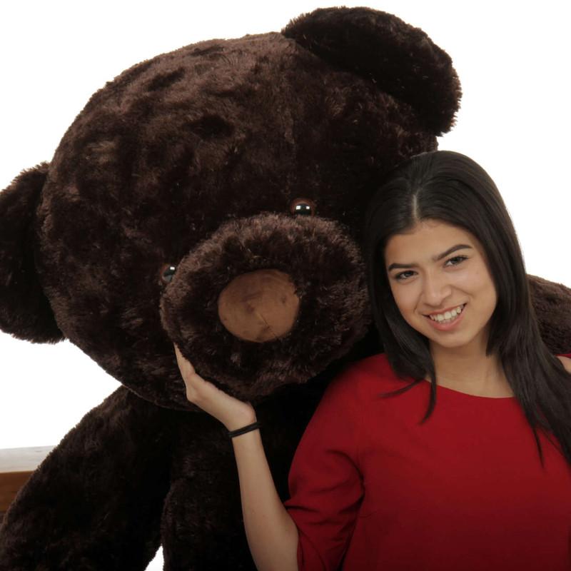 Big Dark Brown Teddy Bear Munchkin Chubs 5ft