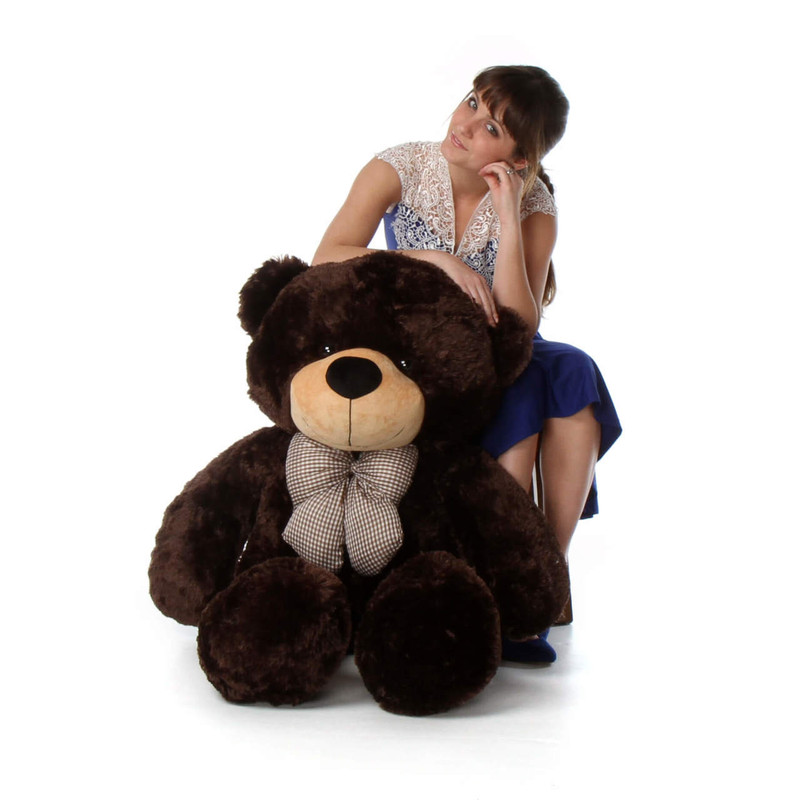 Life Size Chocolate Brown Teddy Bear Brownie Cuddles 48in